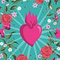 ha039 | happiness | Flower Frame Heart - postcard A6