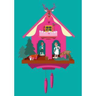lu141 | luminous | Cuckoo Clock - postcard A6