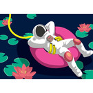 lu145 | luminous | Astronaut Swim Ring