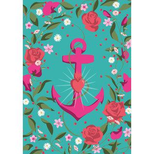 ha041 | happiness | Flower Frame Faith - postcard A6