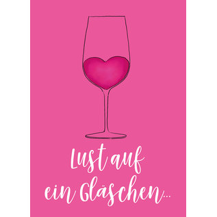 mi060 | m-illu | Gläschen Pink - postcard A6