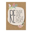 Care About fzca001 | Care About | Reduse, Reuse - wood pulp cardboard A6