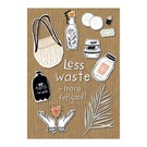 Care About fzca007   Care About   Less waste - wood pulp cardboard A6
