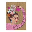 Care About fzca012   Care About   Take care ofr you - wood pulp cardboard A6
