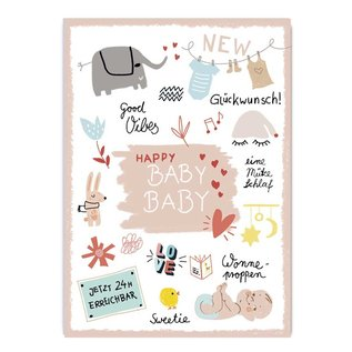 Make your day fzmd012 | Make your Day |  Happy Baby - Postkarte A6