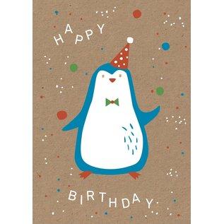 df038   Designfräulein   Pinguin - Postkarte A6