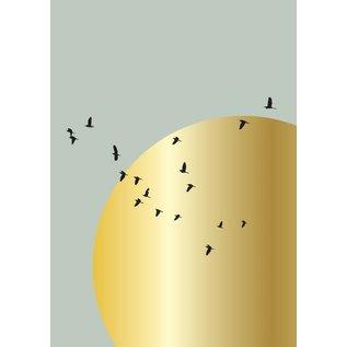 Toni Starck ts007   Toni Starck   bird sky - postcard A6