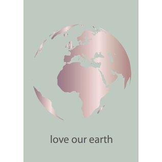 Toni Starck ts008   Toni Starck   love our earth - postcard A6