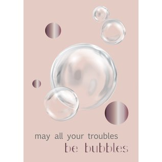 Toni Starck ts022   Toni Starck   troubles be bubbles - postcard A6