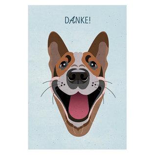 di017 | Daria Ivanovna | Danke-Hund - Postkarte A6