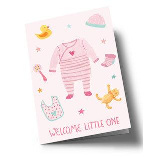ar326 | Anke Rega | Welcome Little One - Mädchen - Klappkarte C6