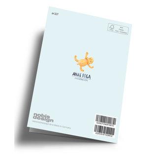 ar327 | Anke Rega | Welcome Little One - Junge - Klappkarte C6