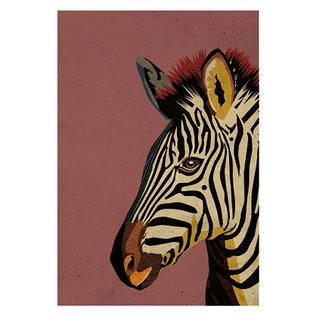 di027 | Daria Ivanovna | Zebra - Postkarte A6