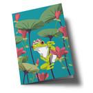 ha351 | happiness | Frog - Klappkarte