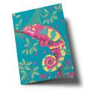 ha357 | happiness | Chameleon - Klappkarte