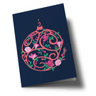 hax301 | happiness | Christmas Tree Ball - Klappkarte
