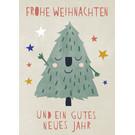 dfx311 | Designfräulein | Smiling Christmastree - Postkarte