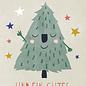dfx311   Designfräulein   Smiling Christmastree - Postkarte  A6