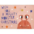 dfx313 | Designfräulein | Mighty Monster Christmas - Postkarte