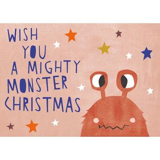 dfx313   Designfräulein   Mighty Monster Christmas - Postkarte  A6