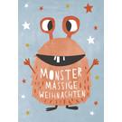 dfx314 | Designfräulein | Monstermässige Weihnachten - Postkarte
