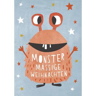 dfx314   Designfräulein   Monstermässige Weihnachten - Postkarte  A6