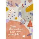 dfx316 | Designfräulein | Frohe Weihnachten - postcard