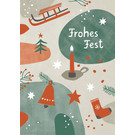 dfx317 | Designfräulein | Frohes Fest - Postkarte