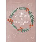 dfx318 | Designfräulein | Frohe Weihnachten Kranz - Postkarte
