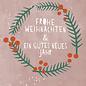 dfx318 | Designfräulein | Frohe Weihnachten Kranz - Postkarte  A6