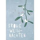 dfx319 | Designfräulein | Frohe Weihnachten Mistelzweig - Postkarte