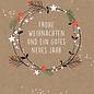dfx056   Designfräulein   Beerenkranz Frohe Weihnachten - Postkarte A6
