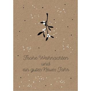 dfx058 | Designfräulein | Mistelzweig Frohe Weihnachten - Postkarte A6