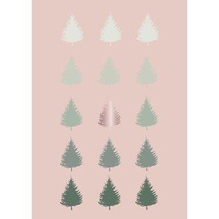 Toni Starck tsx010   Toni Starck   tree lines- postcard A6