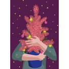 lux047 | luminous | Woman with tree - postcard