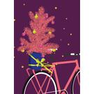 lux048 | luminous | Bike with tree - postcard