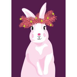 lux049 | luminous | Rabbit - postcard A6