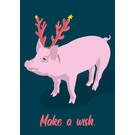lux051 | luminous | Pig - Postkarte