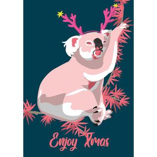 lux052   luminous   Koala - postcard A6