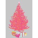 lux056   luminous   Christmas Tree - postcard