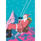 lux038   luminous   St. Claus Swing - postcard