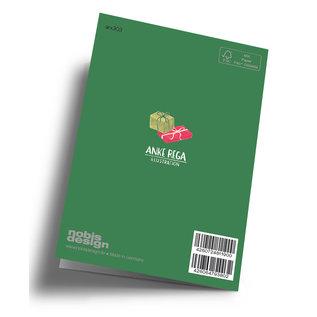arx303   Anke Rega   Weihnachtsmann Geschenke - Klappkarte C6