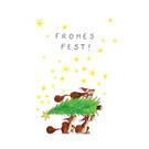 tgx523 | Tabea Güttner | Frohe Eichhörnchen - Postkarte