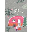 fzgc068 | Gray-Code | Joy, Love & Peace - Postkarte