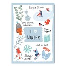 Make your day fzmd010 | Make your Day |  I love winter - Postkarte