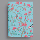 ha455 | happiness | Orange Flowers - notebook A5