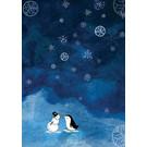 tgx528   Tabea Güttner   kiss in the snow - postcard