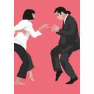 ng208 | pop art new generation | Dancing people - postcard