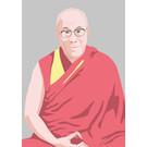 ng212 | pop art new generation | Dalai Lama - Postkarte