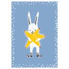 sg240   schönegrüsse   rabbit with star - postcard